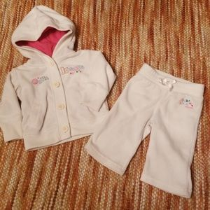 Baby girls 3 6 month oshkosh hoodie pants outfit